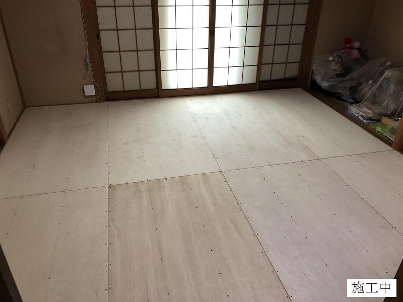 宝塚市 個人邸 和室クッションフロアー貼り替えイメージ06