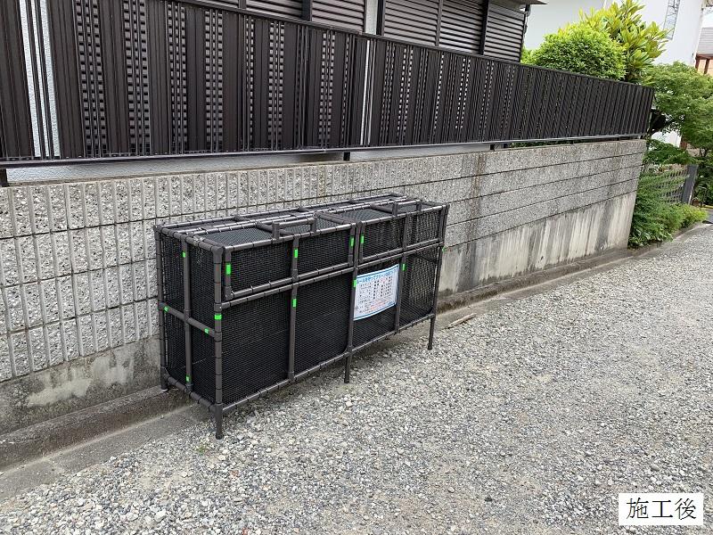 宝塚市 ゴミステーションボックス(オーダー)設置工事イメージ02