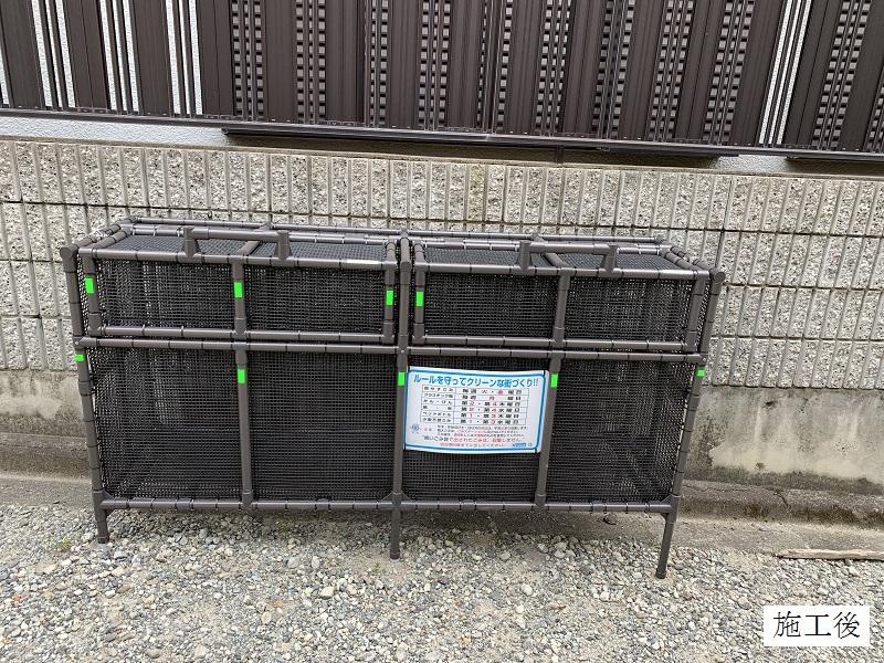 宝塚市 ゴミステーションボックス(オーダー)設置工事イメージ01