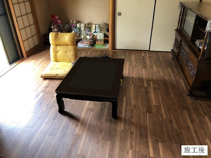 宝塚市 個人邸 和室クッションフロアー貼り替えイメージ01
