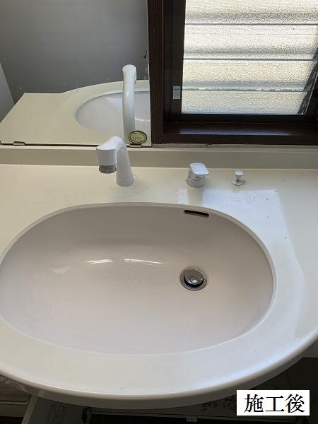 西宮市 洗面台水栓金具・キッチン下収納扉 修繕工事イメージ01