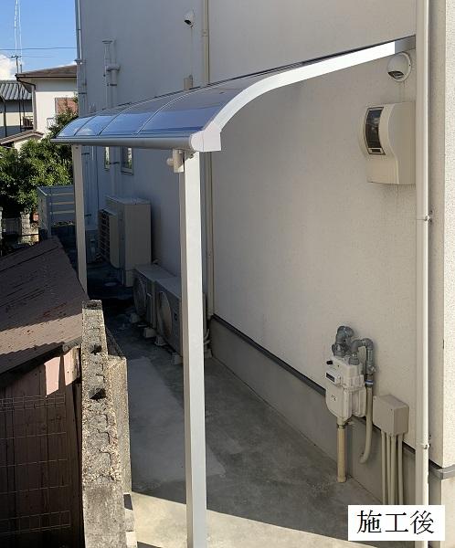 宝塚市 テラス屋根(自転車置き場)設置工事イメージ02