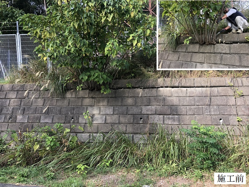 宝塚市 中学校 石積擁壁修繕イメージ03