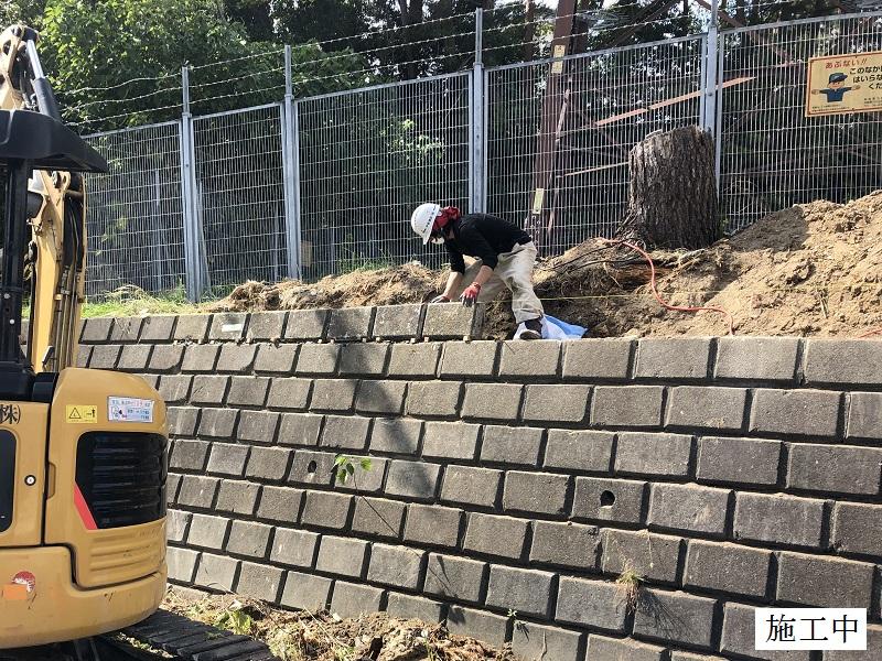 宝塚市 中学校 石積擁壁修繕イメージ08