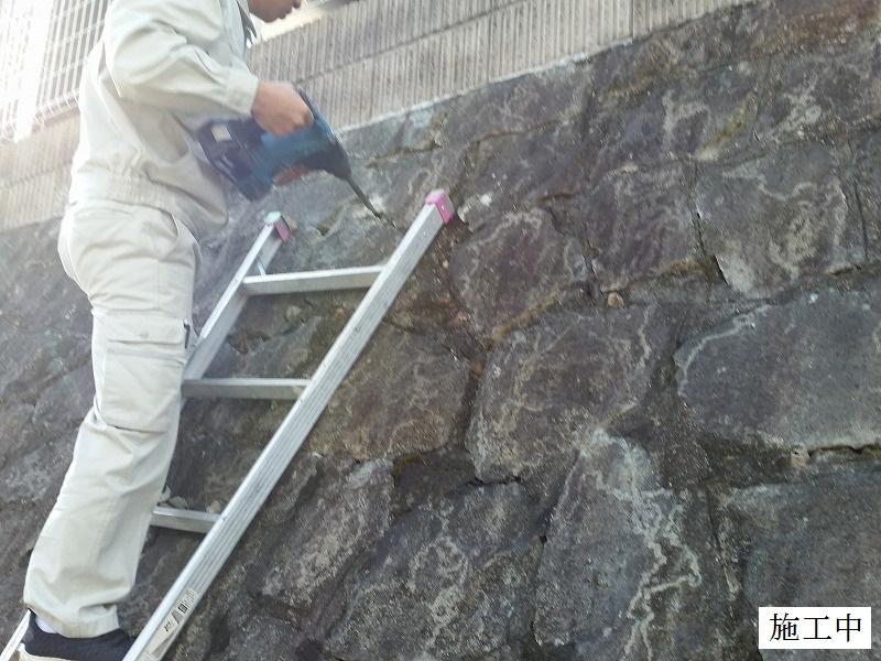宝塚市 石積み擁壁部分補修イメージ05