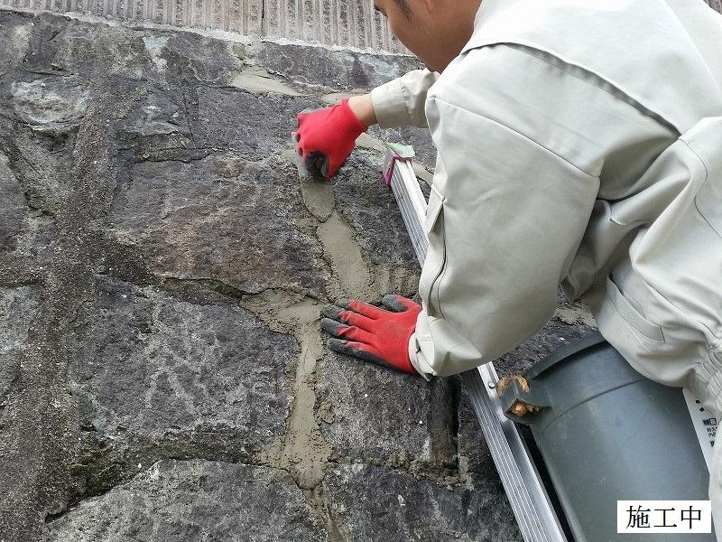 宝塚市 石積み擁壁部分補修イメージ07