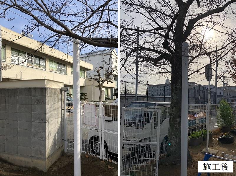 宝塚市 保育園 寒冷紗鉄骨支柱設置(2本)イメージ01