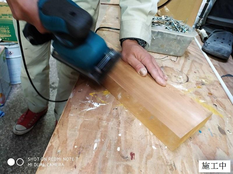 神戸市 マンション 木製ベンチ部分修繕イメージ05