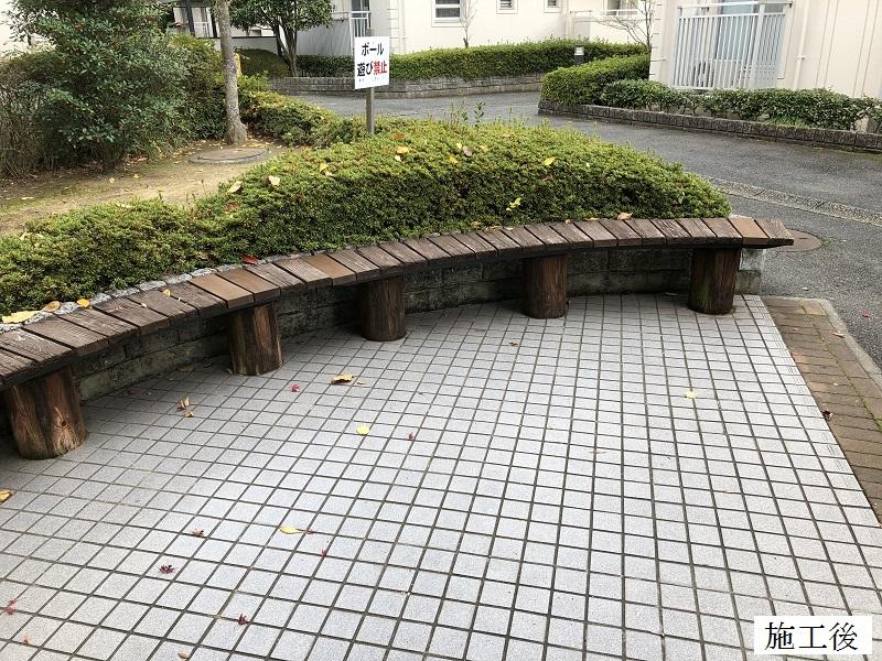 神戸市 マンション 木製ベンチ部分修繕イメージ01