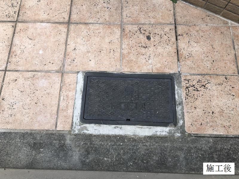 宝塚市 地域利用施設 玄関タイルモルタル修繕イメージ01