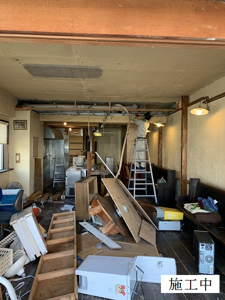 宝塚市 店舗 内部解体撤去工事イメージ05