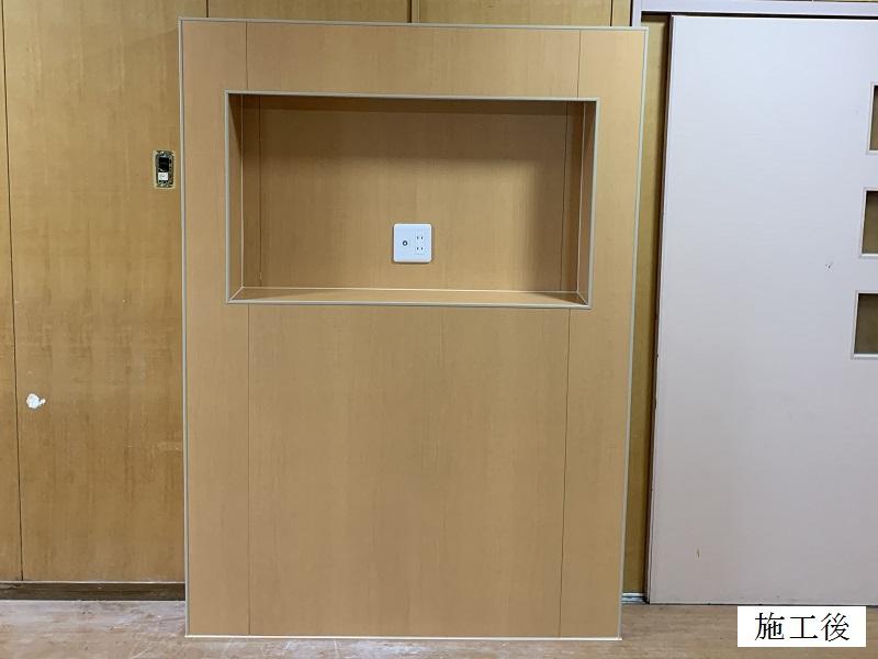 宝塚市 福祉施設 テレビ台造作・各種修繕工事イメージ01