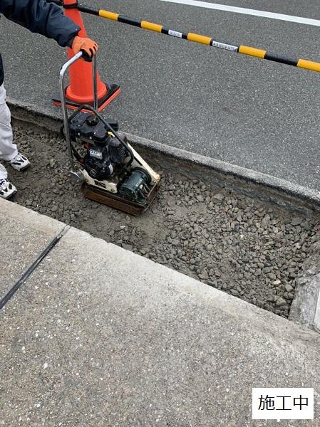 池田市 施設 駐車場入り口L字側溝補修工事イメージ04