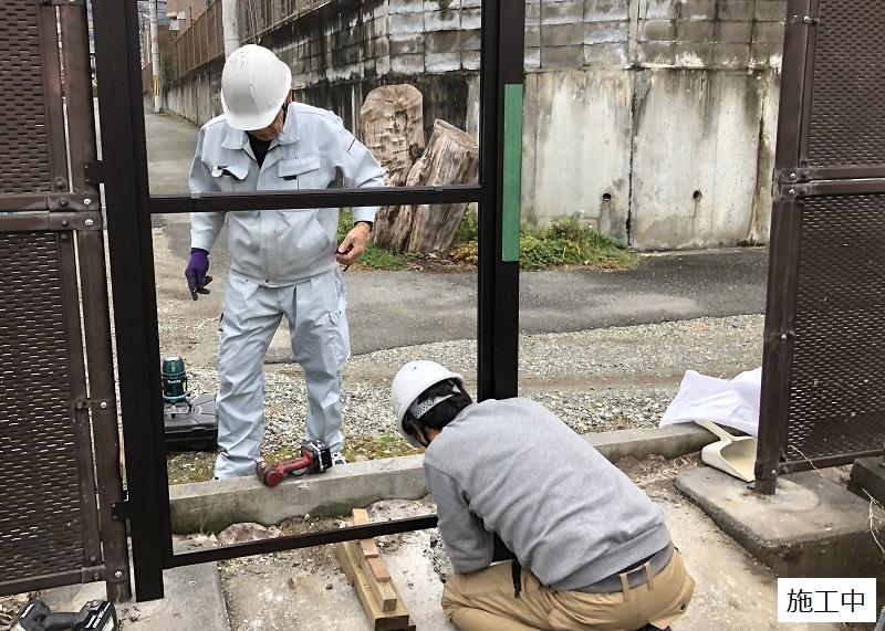 池田市 施設 フェンス出入口扉・スロープ設置工事イメージ05