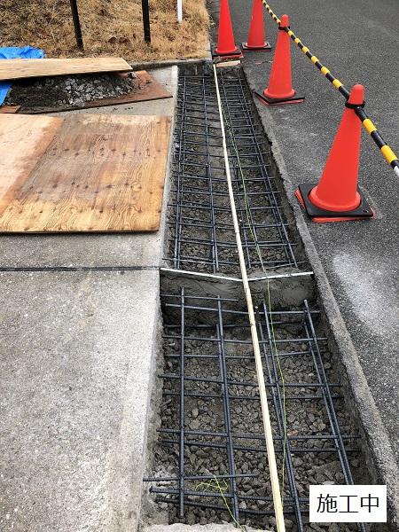 池田市 施設 駐車場入り口L字側溝補修工事イメージ05