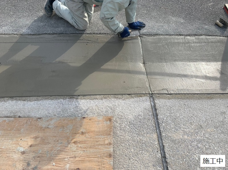 池田市 施設 駐車場入り口L字側溝補修工事イメージ09