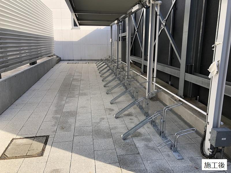 池田市 施設 駐輪場ラック設置工事イメージ01