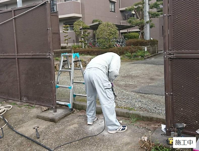 池田市 施設 フェンス出入口扉・スロープ設置工事イメージ03