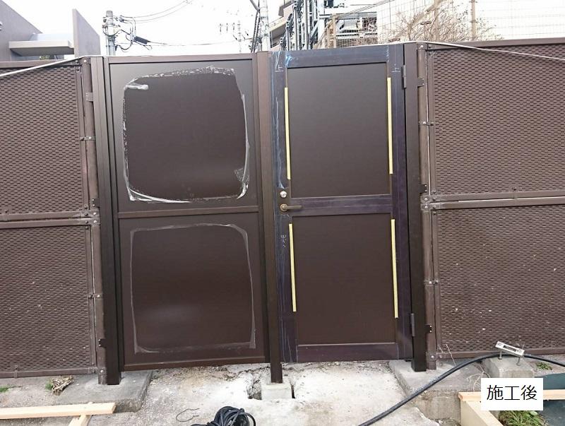 池田市 施設 フェンス出入口扉・スロープ設置工事イメージ07