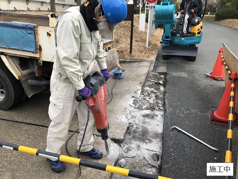 池田市 施設 駐車場入り口L字側溝補修工事イメージ03