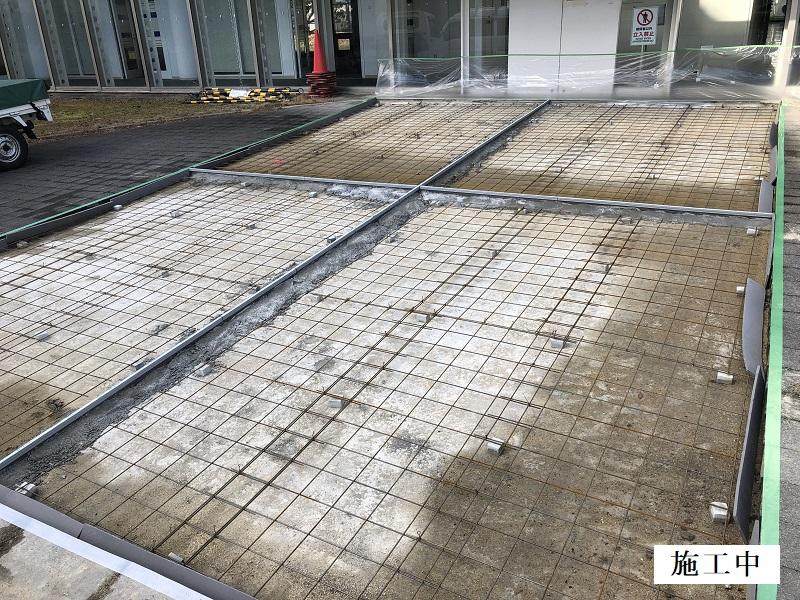池田市 施設 玄関前舗装補修工事イメージ06