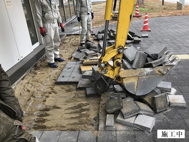 池田市 施設 玄関前舗装補修工事イメージ04