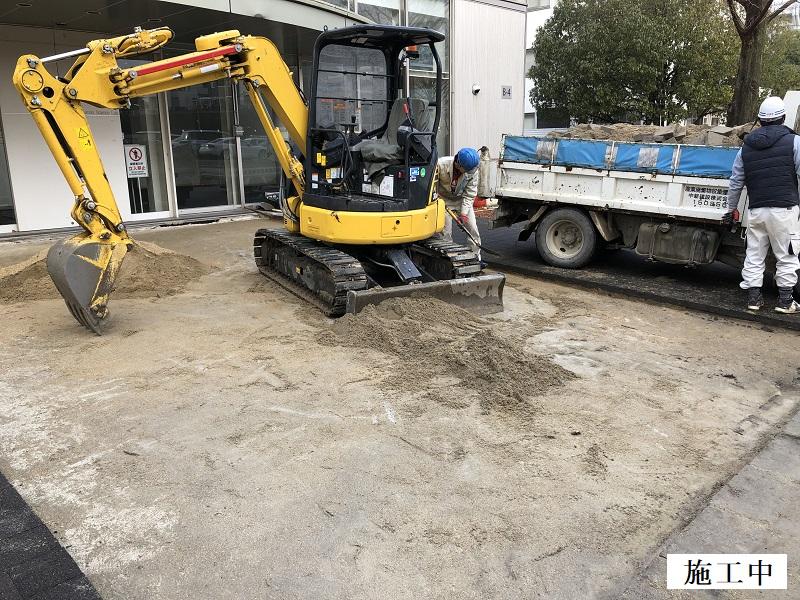 池田市 施設 玄関前舗装補修工事イメージ05