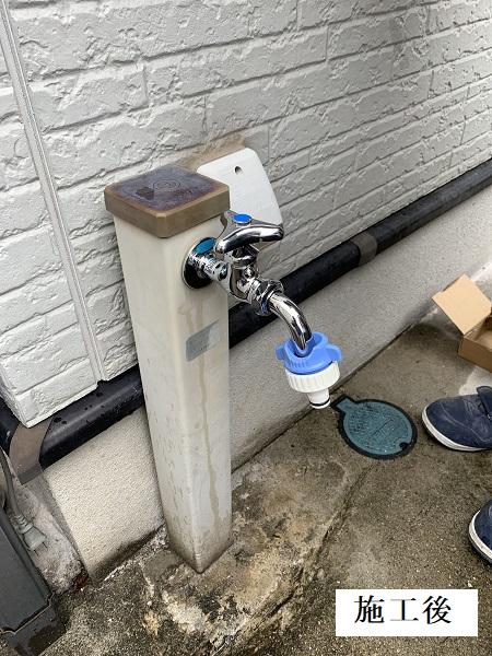 宝塚市 洗濯機パン・浴室水栓・単水栓 取り換え工事イメージ05