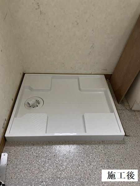 宝塚市 洗濯機パン・浴室水栓・単水栓 取り換え工事イメージ01