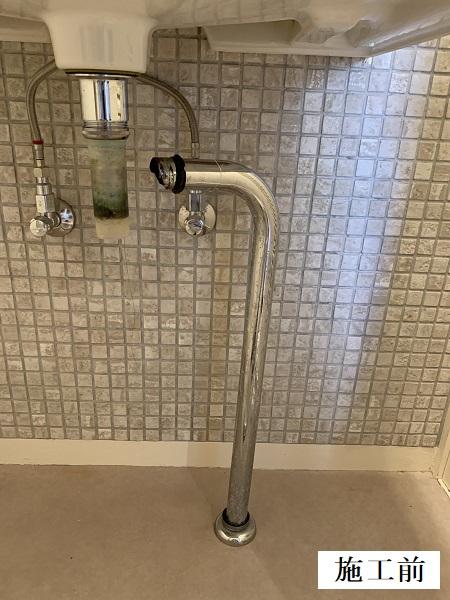 宝塚市 洗面排水管修繕工事イメージ02