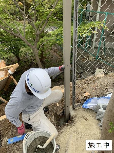 宝塚市  マンション 池の石積補修工事イメージ08