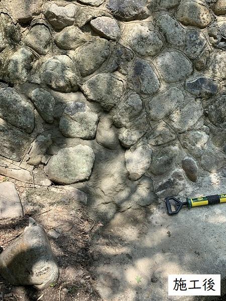 宝塚市  マンション 池の石積補修工事イメージ06