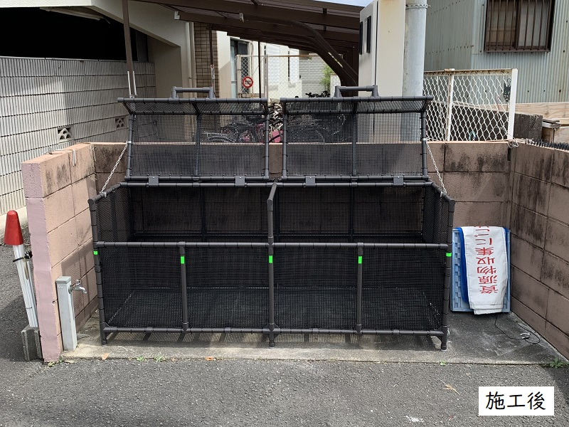 伊丹市 ゴミステーションボックス設置工事イメージ02