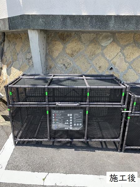 西宮市 ゴミステーションボックス設置工事イメージ03