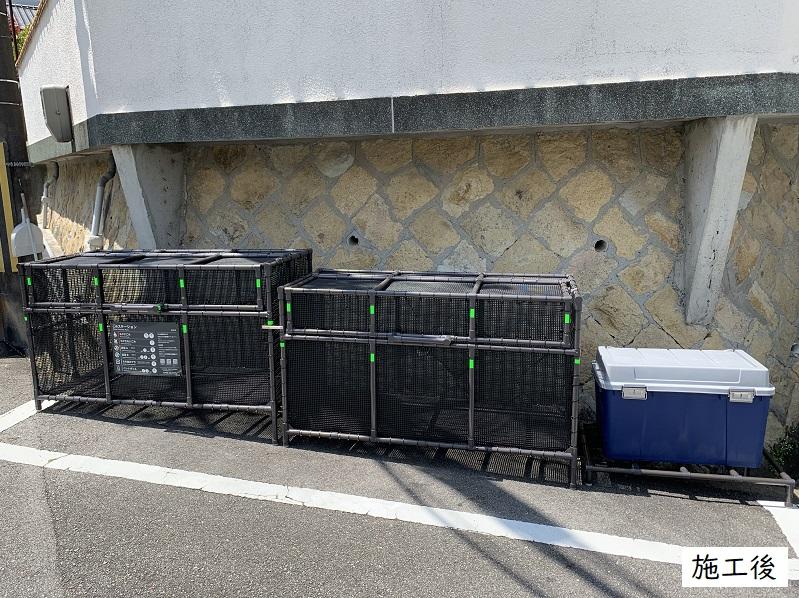 西宮市 ゴミステーションボックス設置工事イメージ01