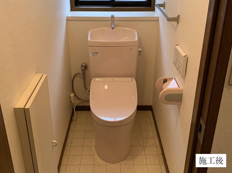 宝塚市 トイレ取替工事|節水型トイレイメージ01