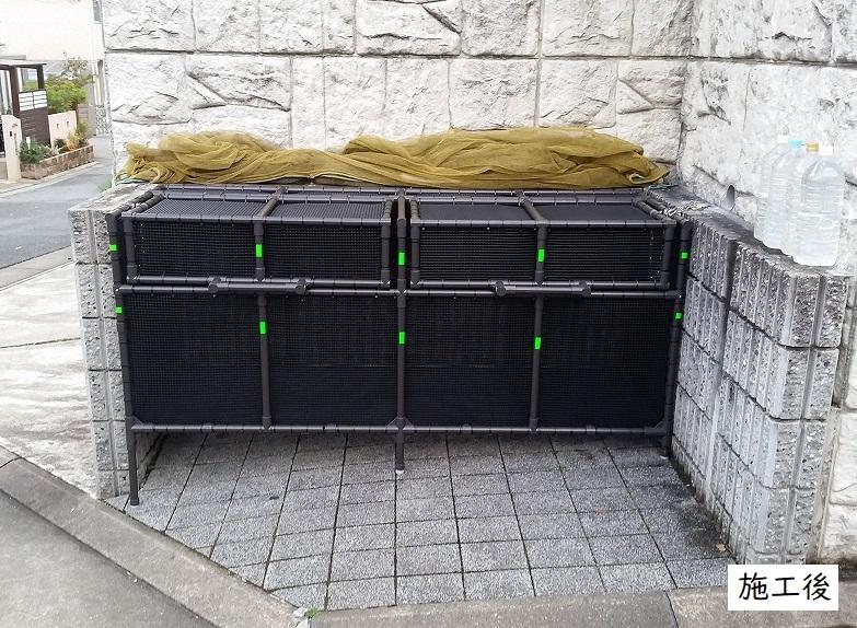 宝塚市 ゴミステーションボックス(大)設置工事イメージ01