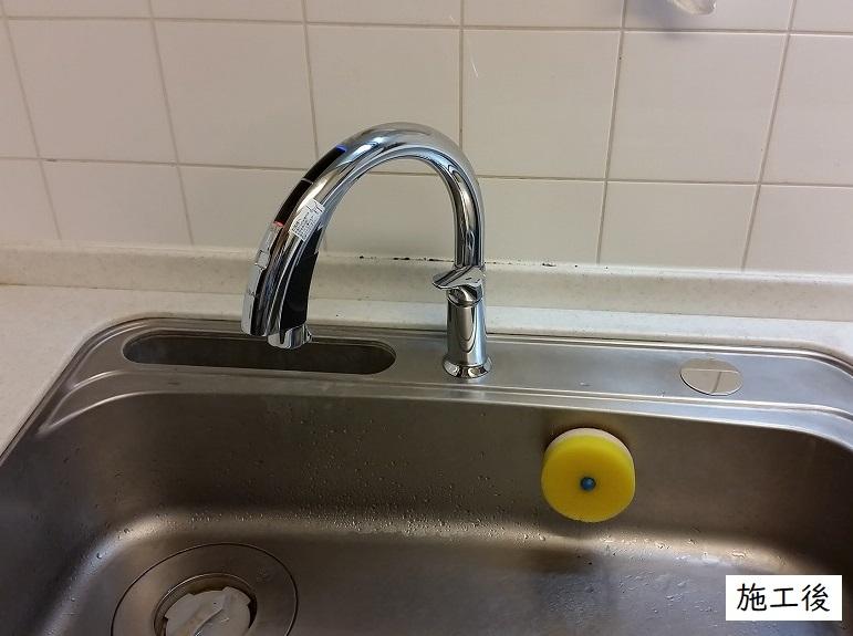 宝塚市 キッチン・洗面所水栓取替(センサー式タッチレス水栓)イメージ01