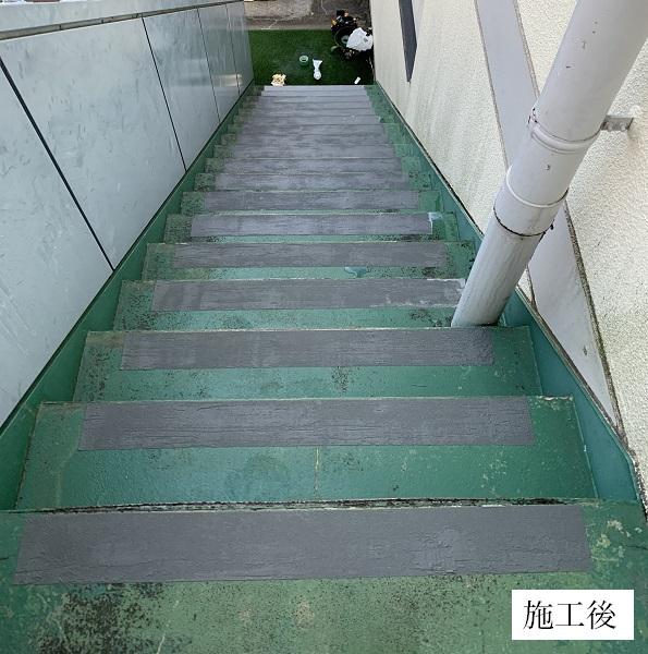 宝塚市 福祉施設 屋外階段滑り止め工事イメージ01