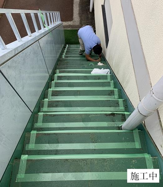 宝塚市 福祉施設 屋外階段滑り止め工事イメージ03