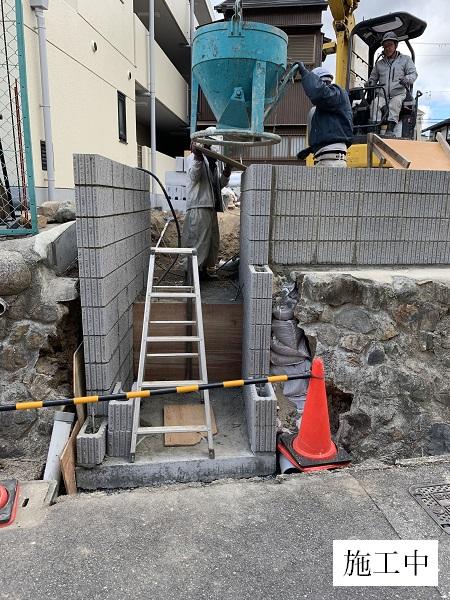池田市 駐車場階段設置工事イメージ03