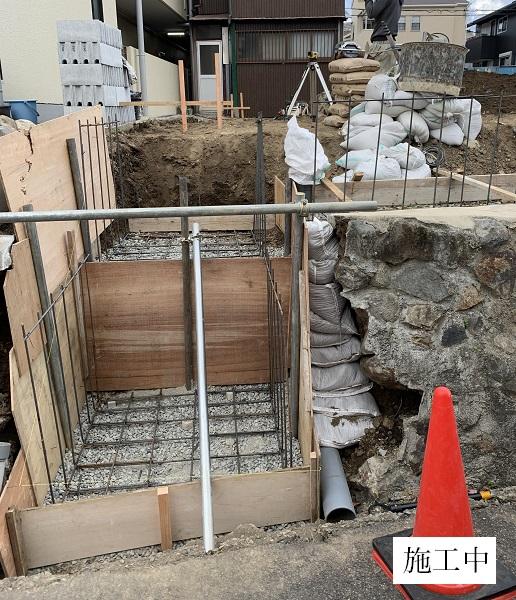 池田市 駐車場階段設置工事イメージ02