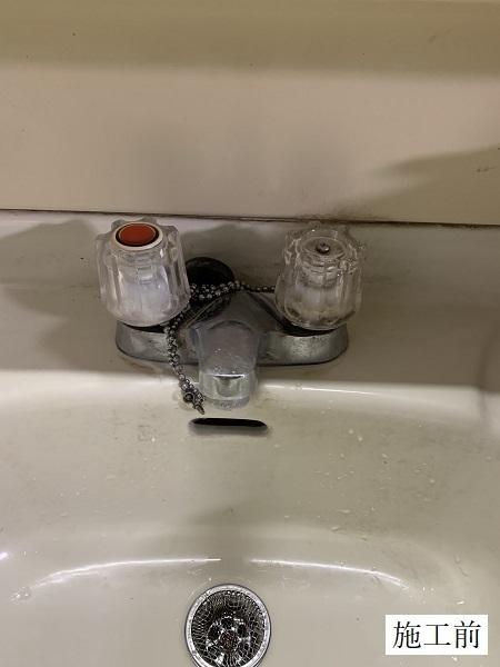 宝塚市 洗面台水栓取替工事イメージ02