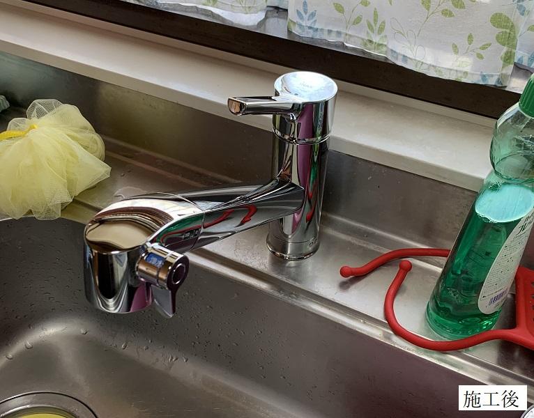 宝塚市 水廻り改修工事|キッチン水栓・ミラブルシャワーヘッド取替イメージ01