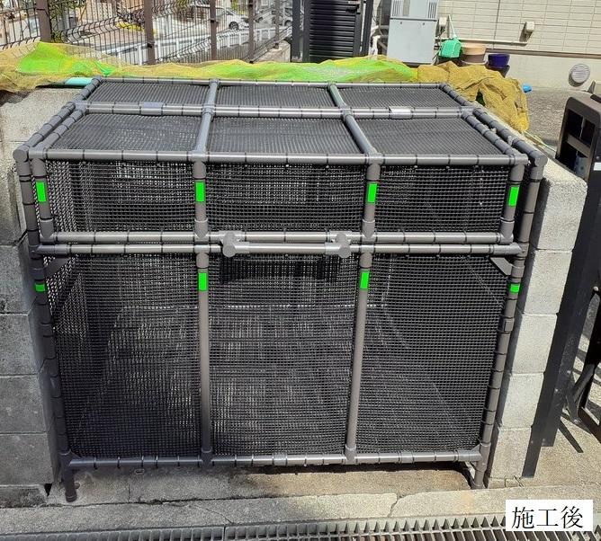 宝塚市 ゴミステーションボックス(特注)設置工事イメージ01