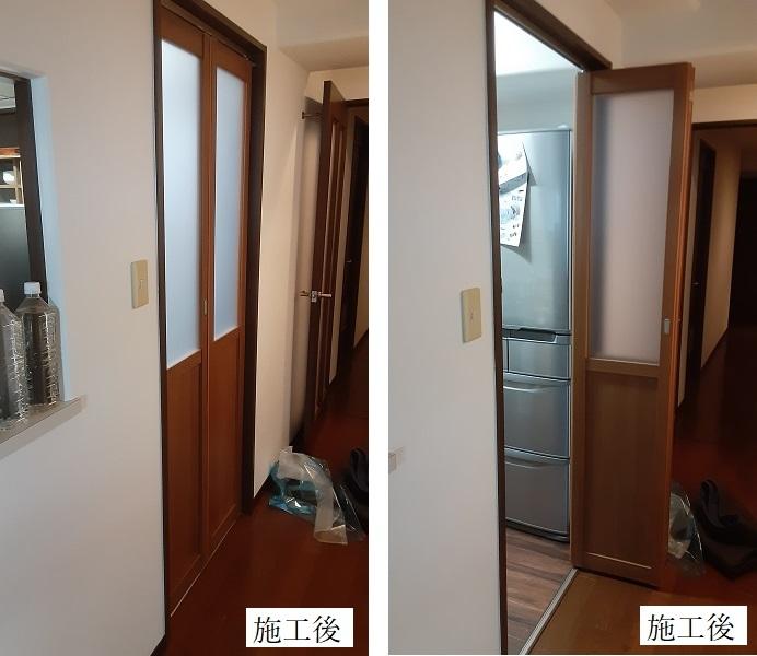 宝塚市 キッチン間仕切り設置工事イメージ01