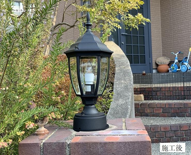 玄関ポーチ門灯取替/LEDタイプ照明イメージ01