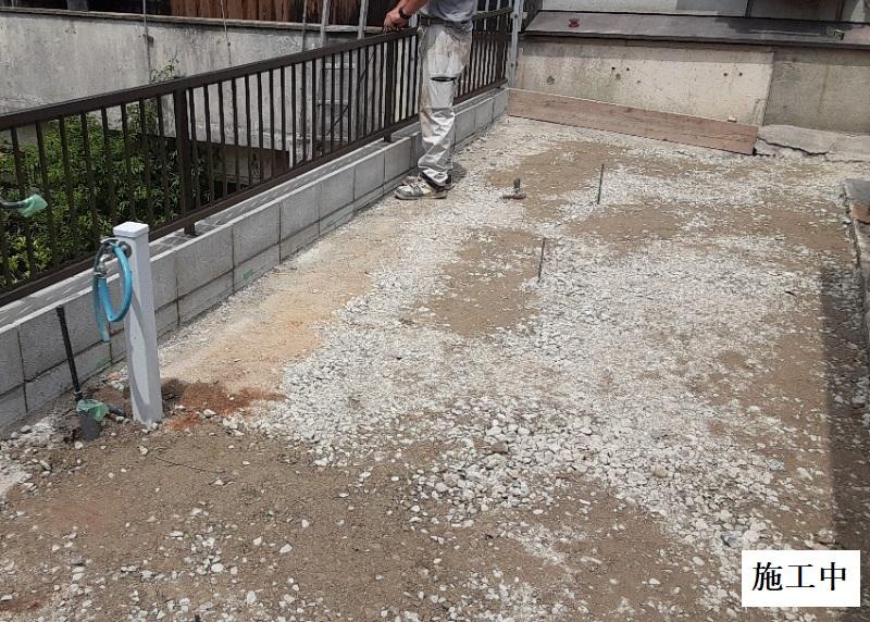宝塚市 納屋解体・土間修繕・フェンス・風除け設置イメージ08