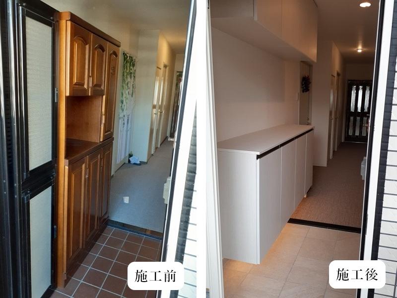 宝塚市 内装リフォーム|明るくカッコいい玄関空間イメージ03