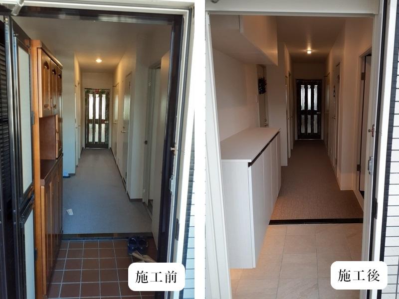 宝塚市 内装リフォーム|明るくカッコいい玄関空間イメージ02